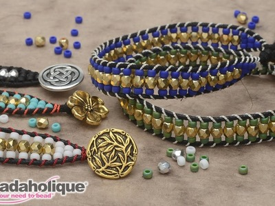 How to Make the Cotton Wrapped Loom Bracelet Kits by Beadaholique