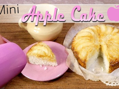 How To Mini Apple Cake Tutorial. DIY Miniature Food