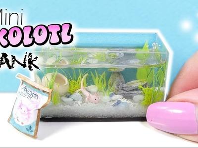 How To Mini Axolotl Tank Tutorial. DIY Miniature Aquarium