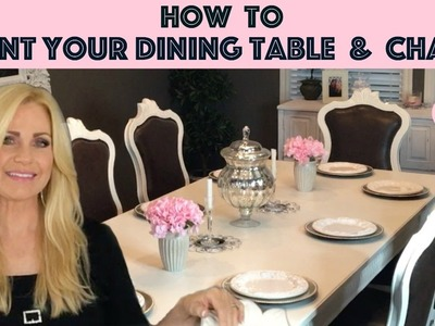 How to Paint Your Dining Table & Chairs with Behr Alkyd Paint ????