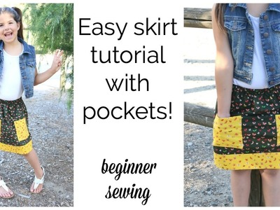 How to Sew a Skirt with Pockets
