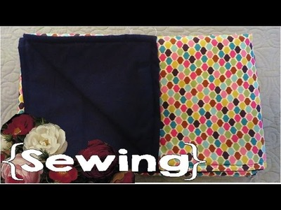 How to Sew a Small, Simple Blanket │ Throw, Lap Blanket, Baby Blanket ║ Simple Sewing #7