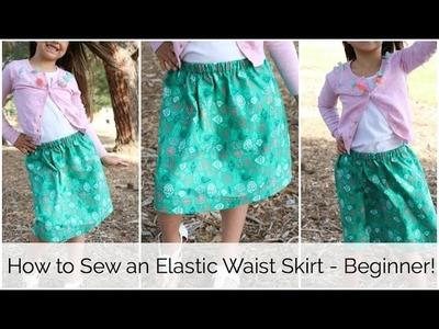 How to Sew an Easy Elastic Waist Skirt: Summer Skirt Series