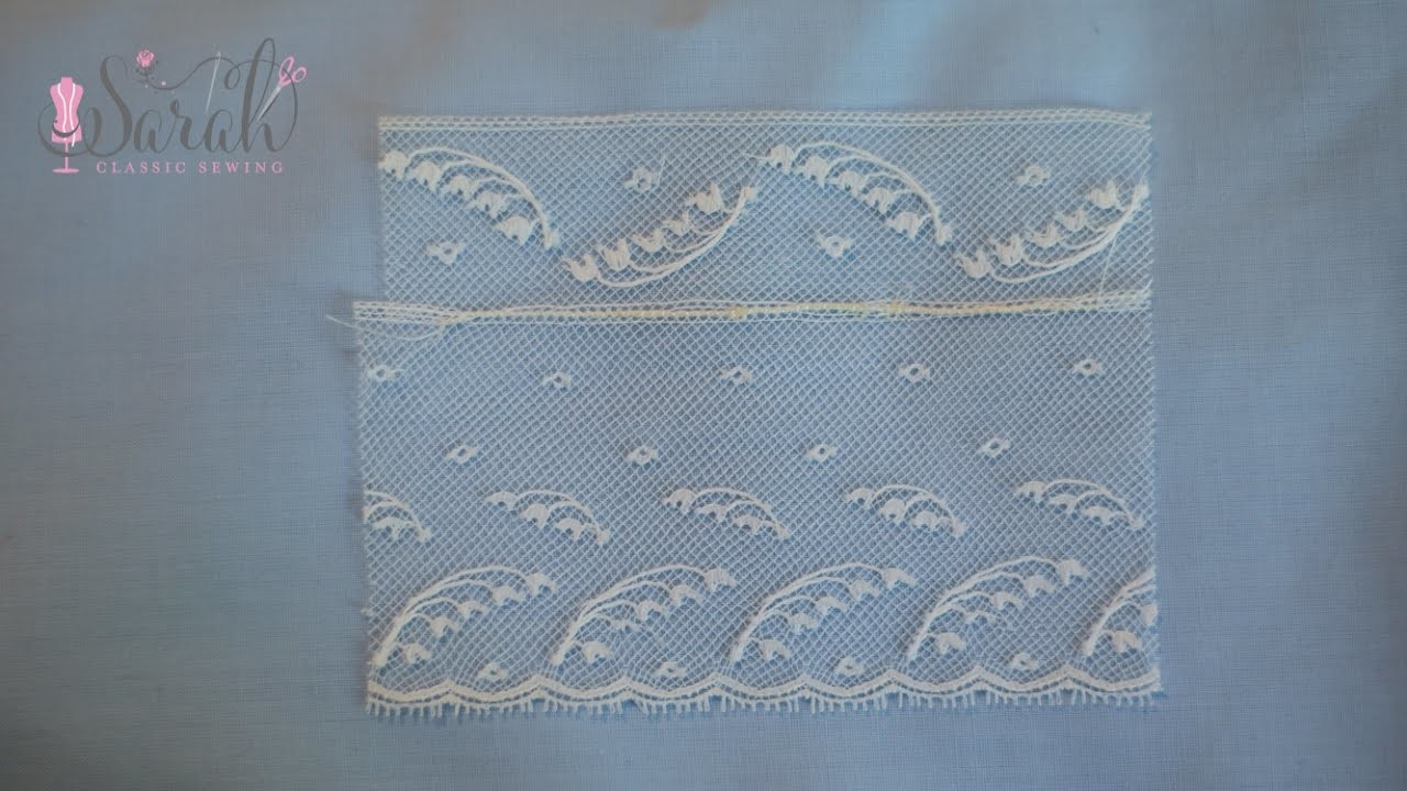 How to sew lace to another piece of lace | Heirloom sewing technique