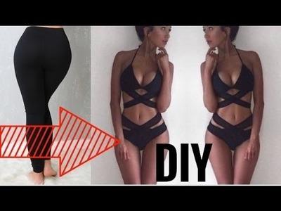 How To Turn Your Old BORING Leggings Into A BIKINI | DIY Bikini Hacks