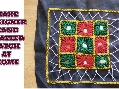 Kutchhi Designer Handcrafted patch.Diy.Make At Home.Hindi Tutorial.magical hands