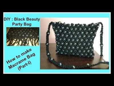 Macrame tutorial : How to make Macrame Bag | Beautiful Party Bag | खूबसूरत  मॅक्रेम बैग बनाना सीखिये