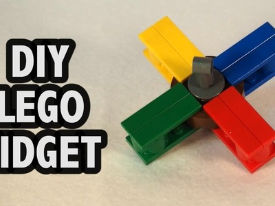 Make Your Own LEGO Fidget Spinner! Tutorial DIY How To Instructions