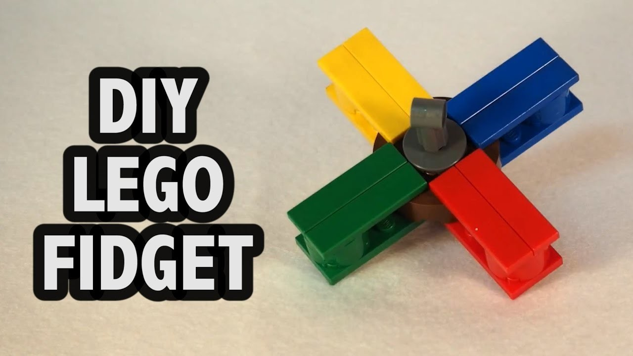 Make Your Own Lego Fidget Spinner Tutorial Diy How To