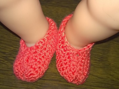 Malayalam crochet) - Easy baby shoes for beginners step by step tutorial
