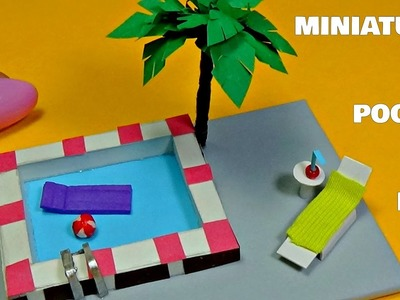 Miniature pool diy │How to make a miniature swimming pool │Doll Stuff