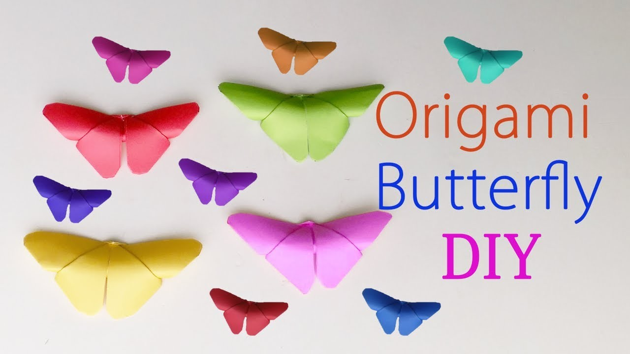 Origami butterfly diy how to make a paper butterfly 3d for How to decorate a paper butterfly