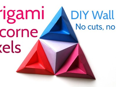 Origami Tricorne Pixels to Make Stunning DIY Paper Wall Art