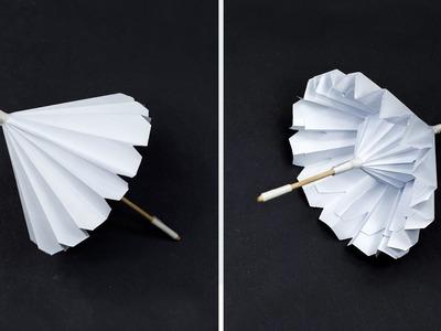 Paper Umbrella || It Opens And Closes (Complete Tutorial) || DIY