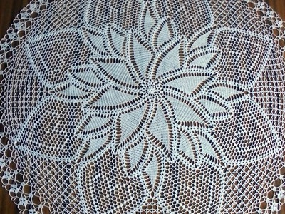 Round Hand Crochet White Doily. How to crochet.Beautiful doily.crochet diy.crochet inspiration