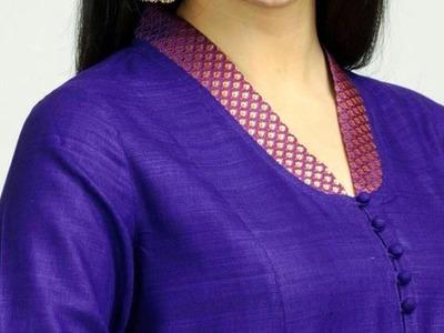 Stylish Collar Neckline DIY for Kameez | Kurti | Drafting, Cutting & Stitching |