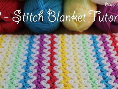 SUPER easy Crochet V Stitch Blanket.Scarf