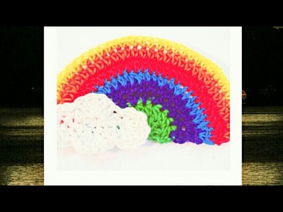 Very easy Crochet rainbow with clouds part-2