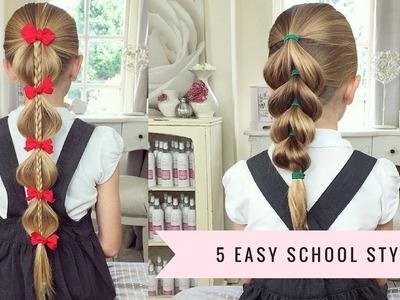 5 Easy School Hairstyles by SweetHearts Hair Design
