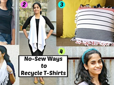 5 No-Sew DIYs from Old T-shirts that you can try in these Vacations