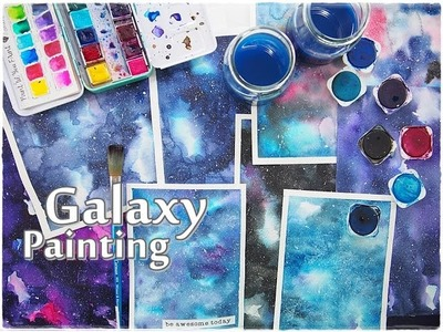 Beginners Galaxy Painting Watercolor Tutorial ♡ Maremi's Small Art ♡