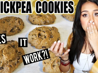 CHOCOLATE CHIP COOKIES MADE OUT OF CHICKPEAS?! Does it Work?!?! - #TastyTuesday