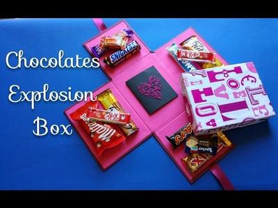 Chocolate Explosion Box Tutorial - Crafts n' Creations - كيف تصنع صندوق المفاجآت الملئ بالشيكولاته