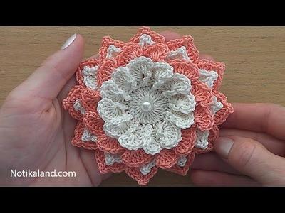 Crochet Flower Tutorial #4 VERY EASY