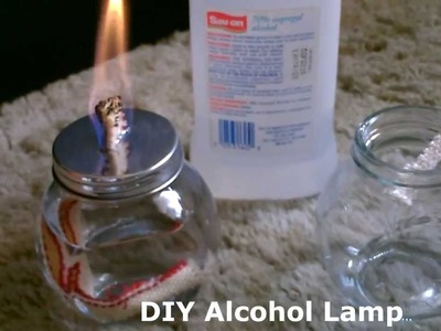 "DIY Alcohol Lamp - w.quick ""stove conversion"" - burns standard isopropyl (rubbing alcohol)"