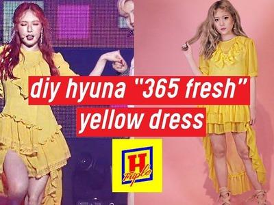 "DIY Triple H ""365 Fresh"" Hyuna's Yellow Dress   DIY K-POP Closet #3"