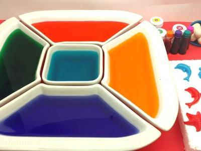 Dye Coloring Play Doh Sea Creatures Dolphin,Seastar Molds.Kids Creative Color Fun.Crayola Play Doh