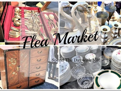 FLEA MARKET | Spend The Day With Me & Kitchen Tour Update!