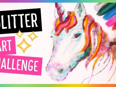 Glitter Glue Unicorn Drawing ????✨ Art Challenge w. Baylee Jae! | Sea Lemon