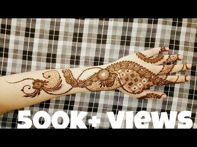 Gulf henna design for hands   mehndi design for backside. 2017