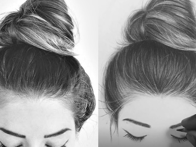 How I Draw Hair With Charcoal Pencils