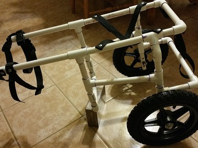 How To Build Your Own Doggie Wheelchair Part 1