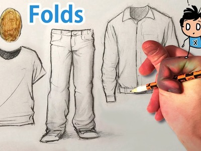 How to Draw Men's Clothes.Folds.Wrinkles.Creases - Daddy X Starter Pack