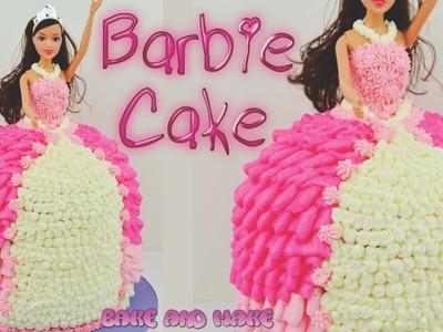 How to make a Barbie Doll Princess Cake Tutorial. Bake and Make with Angela Capeski