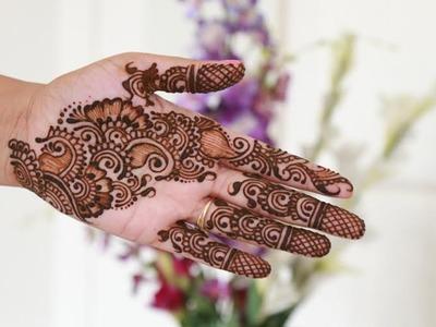 How To Make Arabic Henna.Mehndi Design | Step By Step Tutorial