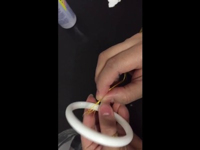 How to make silk thread bangle tutorial part 1