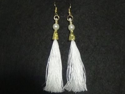 How to make Silk Thread Tassel Earrings