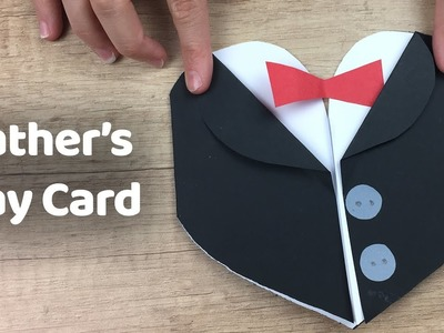 How to make Tuxedo | Father's day gift card - simple and quick to make craft for father with kids.