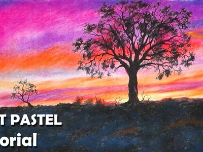 How to Paint Sunset with Soft Pastels