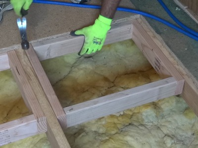 How to repair or replace a damaged section of sub-floor.
