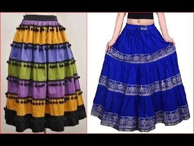 Long pom pom skirt cutting and stitching DIY लंबी पोम पोम स्कर्ट