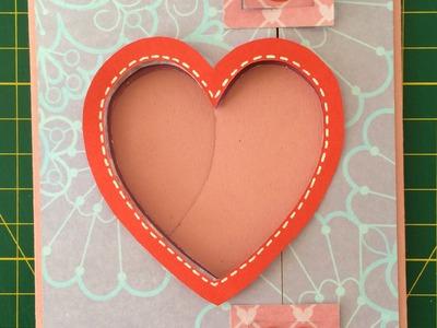 巧。手做卡片(Make Cards with Chiao)-愛心快門卡教學(Heart Shutter Card Tutorial)