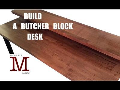 Making a Butcher Block Desk 003