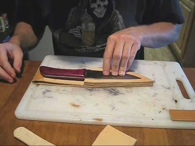 Making my wifes leather sheath part 1