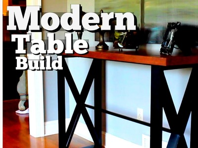 ???? Modern Side Table Build with Secret Compartment