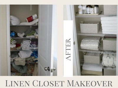 MOTHER'S DAY GIFT IDEA | Mother's Day Linen Closet Makeover | HOME ORGANIZATION